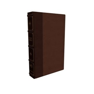COMING MAY 2021: KJV Large Print Reference Bible, Maclaren Series, Brown Leathersoft