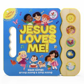 Jesus Loves Me! (Ginger Swift), 5 Button Songbook, Board Book