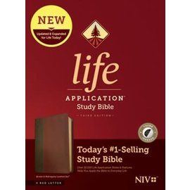 NIV Life Application Study Bible 3, Brown/Mahogany Leathersoft, Indexed