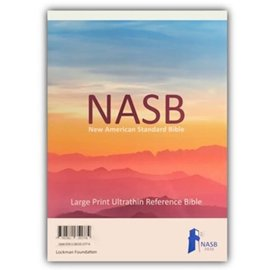 NASB 2020 Large Print Ultrathin Reference Bible, Black Genuine Leather