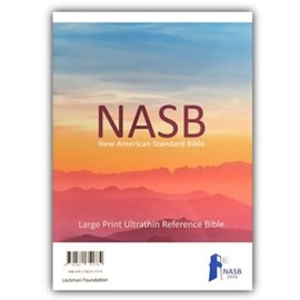 NASB 2020 Large Print Ultrathin Reference Bible, Grey Leathersoft