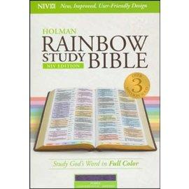 NIV Rainbow Study Bible, Purple Leathertouch, Indexed