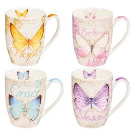 Mug Set - Butterfly Blessings, Set of 4