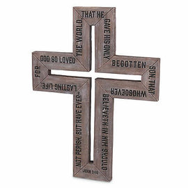 Wall Cross - For God So Loved the World, 16.25""