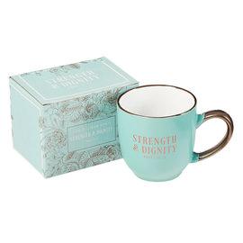 Mug - Strength and Dignity, Mint Green