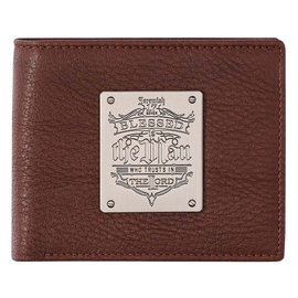 Men's Wallet - Blessed is the Man, Brown Genuine Leather
