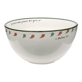 """Cereal Bowls - Grace and Peace, Set of 4 (6.5"""")"""