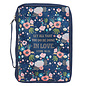 Bible Cover - Done in Love, Navy Floral