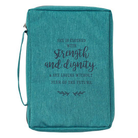 Bible Cover - Strength and Dignity, Teal