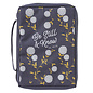 Bible Cover - Be Still, Navy