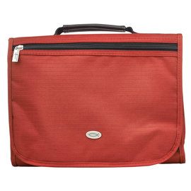 Bible Cover - Trifold Organizer with Fish, Red