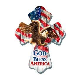Wall Cross - God Bless America, Eagle