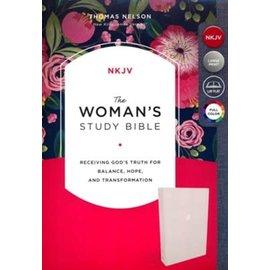 NKJV Woman's Study Bible, Cream Cloth Over Board