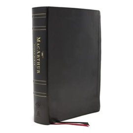 ESV MacArthur Study Bible 2, Black Genuine Leather, Indexed