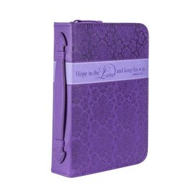 Bible Cover - Hope in the Lord, Purple