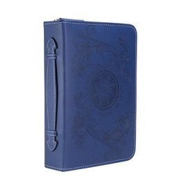 Bible Cover - Psalm 16:7 Compass, Navy
