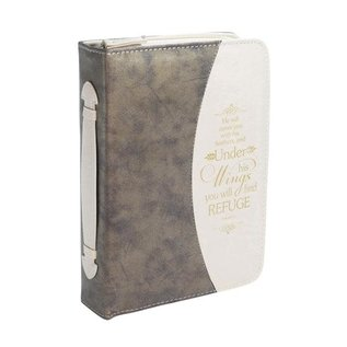 Bible Cover - Under His Wings, Tan