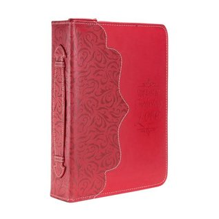 Bible Cover - Everlasting Love, Red