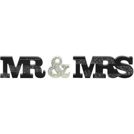Word Plaque - Mr. & Mrs.