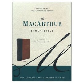 ESV The MacArthur Study Bible 2, Brown Leathersoft, Indexed