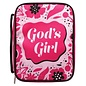 Bible Cover - God's Girl, Pink Canvas Medium