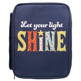 Bible Cover - Let Your Light Shine, Navy Canvas Medium