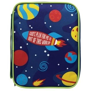 Bible Cover - God's Plan for Me, Outer Space Canvas Medium