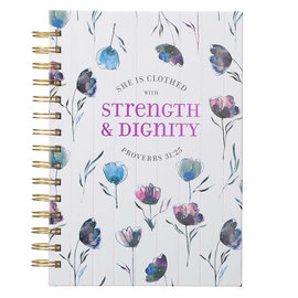 Journal - Strength and Dignity Floral, Wirebound