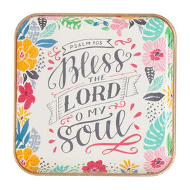 Trinket Tray - Bless the Lord, Metal