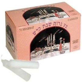 Candles - Shabbat, White (Box of 72)