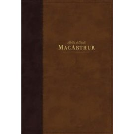 NBLA Biblia de Estudio MacArthur, Café Leathersoft