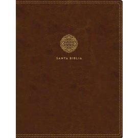 Reina Valera 1960 Santa Biblia Edicion para Notas, Café Leathersoft