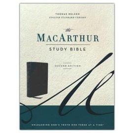 ESV The MacArthur Study Bible 2, Black Genuine Leather
