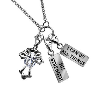 """Charm Necklace - His Strength, 18"""""""