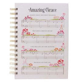 Journal - Amazing Grace Music Notes, Wirebound