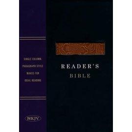 NKJV Reader's Bible, Black and Brown Imitation Leather