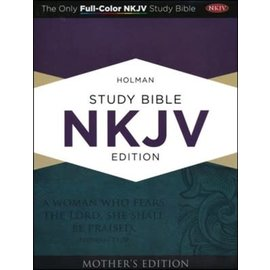 NKJV Holman Study Bible (Full Color): Mother's Edition, Turquoise LeatherTouch