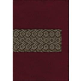 KJV Large Print Study Bible 2, Maroon/Brown Leathersoft