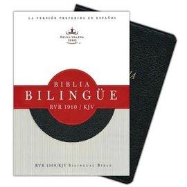 RVR 1960/KJV Bilingual Bible, Black Bonded Leather, Indexed