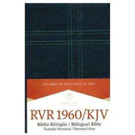RVR 1960/KJV Tamaño Personal Biblia Bilingue (Personal Size Bilingual Bible), Black Leathersoft