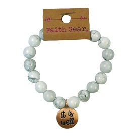 Bracelet - Faith Gear, It is Well With My Soul (White)