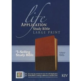 KJV Large Print Life Application Study Bible, Brown/Tan LeatherTouch, Indexed