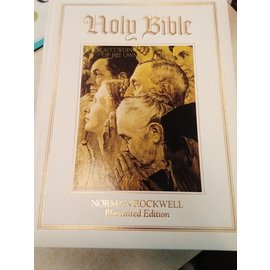 USED KJV Bible, Norman Rockwell Illustrated Edition, White Hardcover