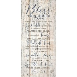 Plaque - Bless This House, Wood