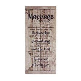 Plaque - Marriage Prayer, Wood