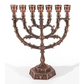 Menorah - Copper (7 Branched)