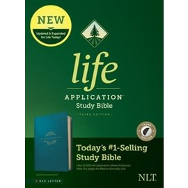 NLT Life Application Study Bible 3, Teal Blue Leathersoft, Indexed