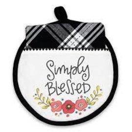 Hot Pad & Tea Towel - Simply Blessed, Flowers
