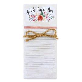 Magnetic List Pad - Faith Hope Love