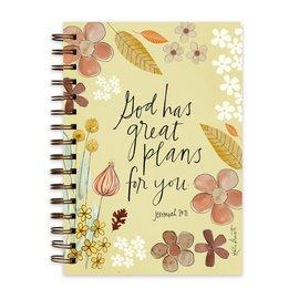 Journal - God has Great Plans, Wirebound